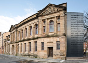 View of stunning Women's Library before installation of blinds Glasgow.